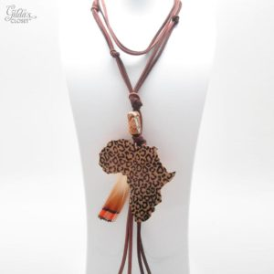 Collar largo  Africa jirafa