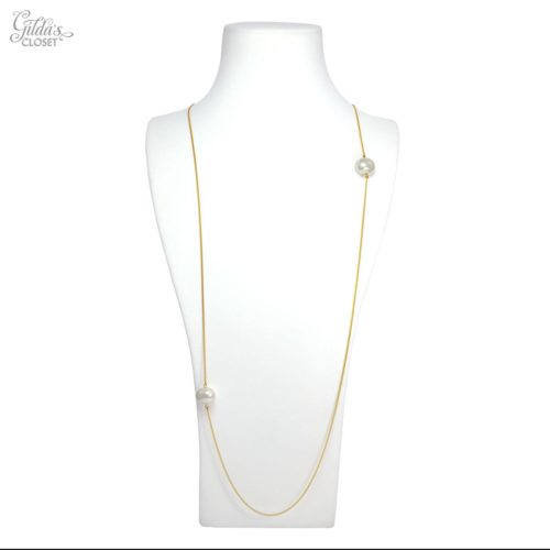 "Collar largo ""Minimal"" perla"