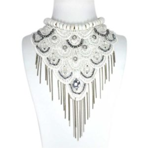 "Maxi collares ""Moulin Rouge"" blanco"