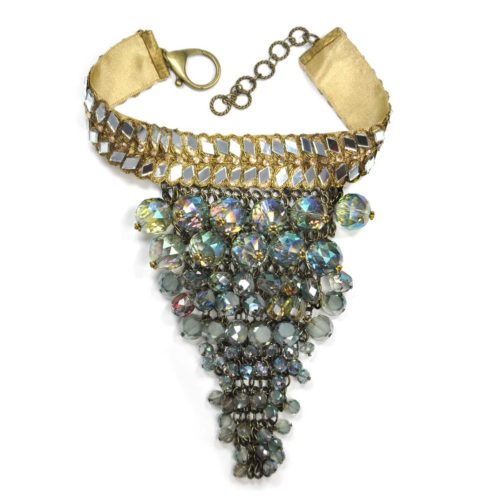 "Collares para escote en v ""Gloria Swanson"" triangular"