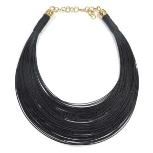 "Collares de hilo ""Over the rainbow"" negro"
