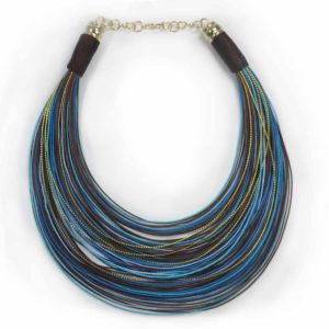 "Collar ""Over the Rainbow"" marrones-azules"