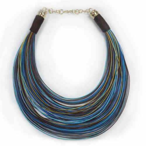 Collar Over the rainbow -azules- Maxi Collares, collares cortos, bisutería fina, regalos originales. Gilda's Closet.