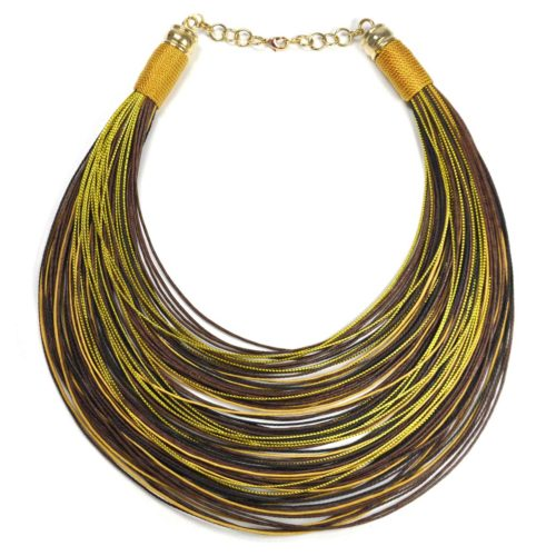 "Collar ""Over the Rainbow"" dorados-marrones-beige"